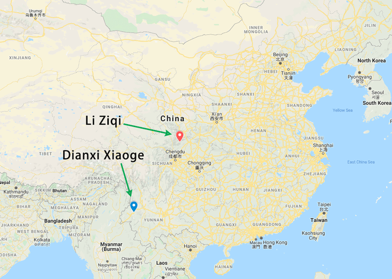 Hometowns of Li Ziqi and Dianxi Xiaoge