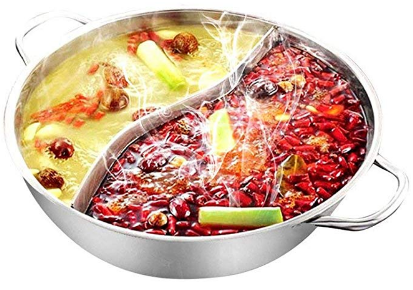 hot pot separate compartment